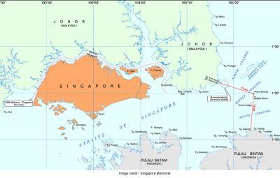 pulau batu putih map