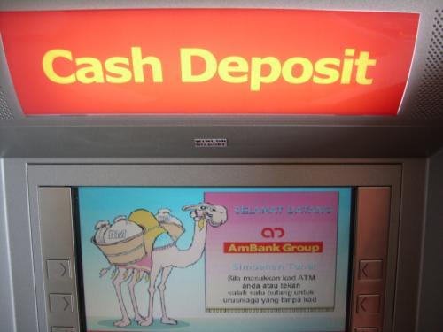 pay car loan at cash deposit ambank